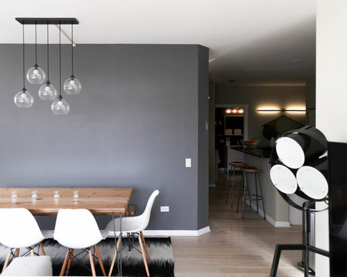 dining room decor gray. Scandinavian dining room idea in Chicago Best 15 Gray Dining Room Ideas  Remodeling Pictures Houzz