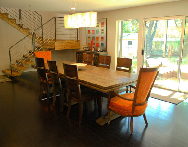Transitional Dining Room by Kara Mosher