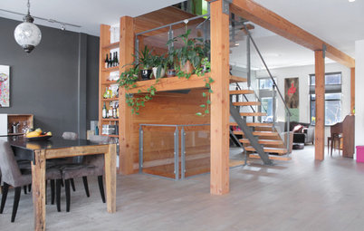 My Houzz: Vibrant Colors Meet Natural Materials in Montreal