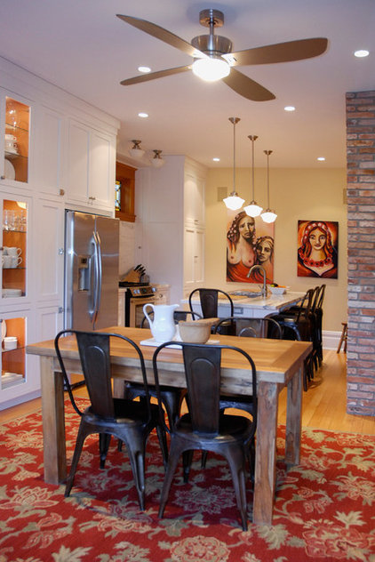 transitional dining room by Heather Merenda