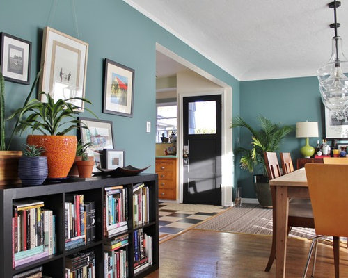 Benjamin moore caribbean teal houzz for Dining room ideas teal