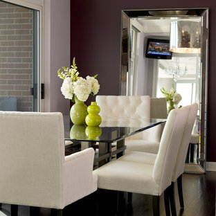 Transitional dining room photo in Chicago