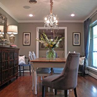 Пример оригинального дизайна интерьера: столовая в стиле фьюжн
