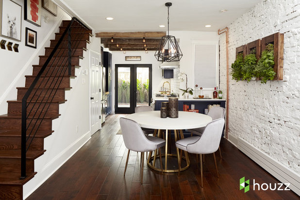 Transitional Dining Room by Ferrarini & Co. Kitchens & Interiors