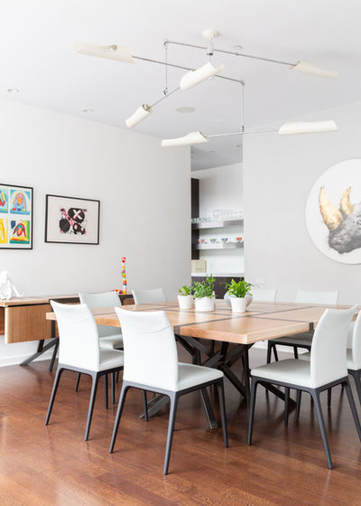 Contemporary Dining Room by Rachel Loewen Photography