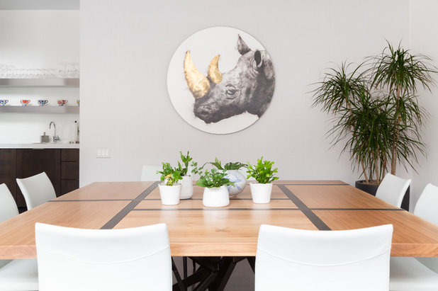 Eclectic Dining Room by Rachel Loewen Photography