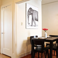 Transitional Dining Room by Shannon Malone