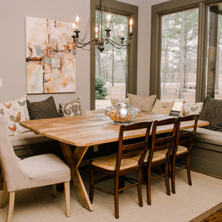 Phenomenal Built In Dining Bench Houzz Squirreltailoven Fun Painted Chair Ideas Images Squirreltailovenorg