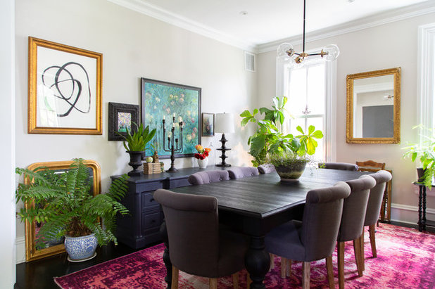 Transitional Dining Room by Rachel Loewen Photography