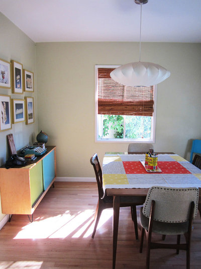 Eclectic Dining Room My Houzz: Thrifty Flourishes Give a '50s Home Retro Appeal