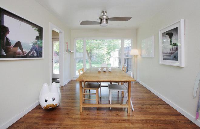 Transitional Dining Room by Lindsay von Hagel