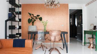 My Houzz: Warm tones of copper soften a robust city apartment