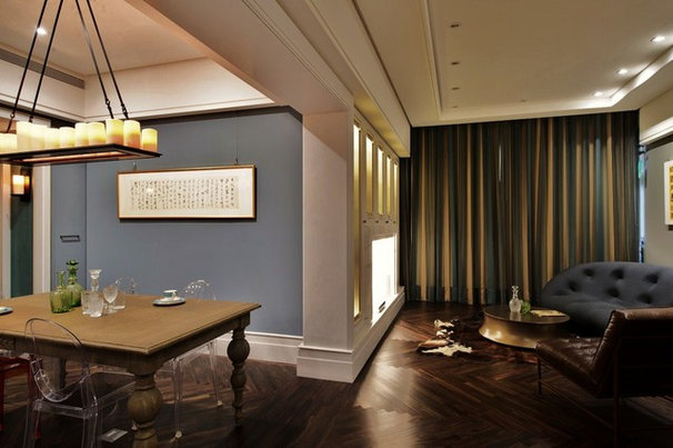 Eclectic Dining Room by PLAN architecture | design | strategy