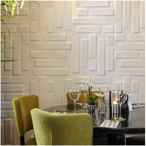 Beau Example Of A Minimalist Dining Room Design In Amsterdam. Save Photo.  WallArt 3d Wall Panels