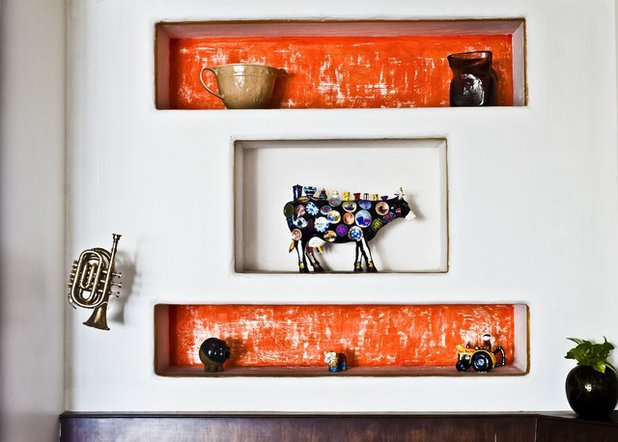Eclectic Dining Room by richa bahl
