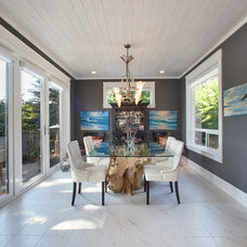 Transitional Dining Room by Richardson Homes Ltd
