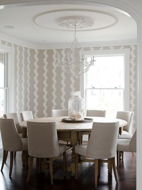 round dining room table images. beach style dark wood floor dining room idea in new york with multicolored walls round table images
