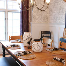 Eclectic Dining Room by Two Birds