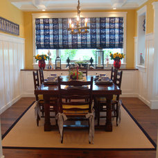 beach style dining room by Darci Goodman Design