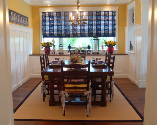 Beach style dining room design ideas renovations photos for Yellow dining room ideas
