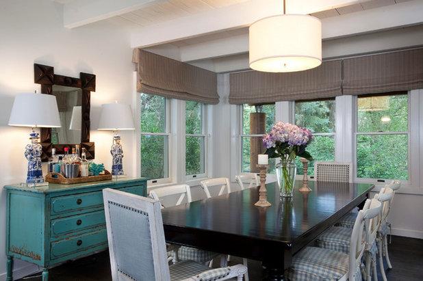 Shabby-chic Style Dining Room by Karen White Interior Design