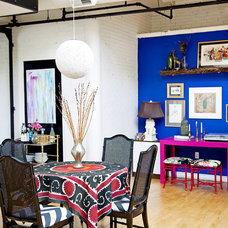 Eclectic Dining Room by Design Manifest