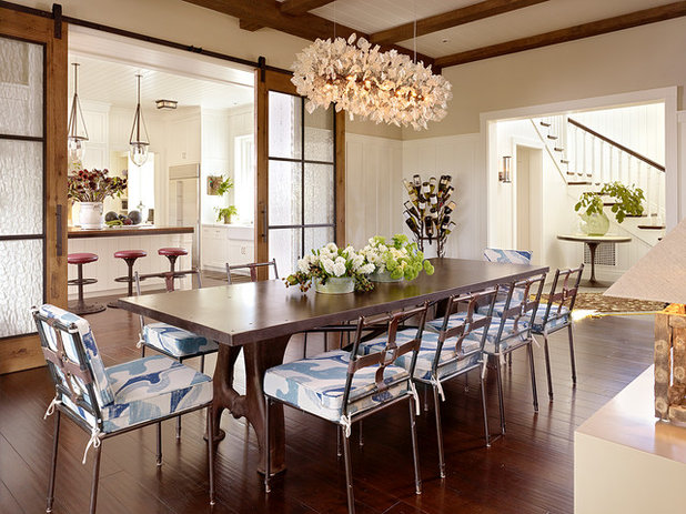 Farmhouse Dining Room by Stephen Willrich Architecture Design