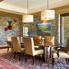 Contemporary Dining Room by Larette Design