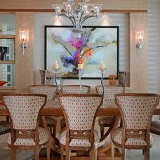Asian Dining Room by Busby Cabinets