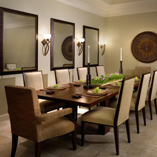 Contemporary Dining Room by Robin Baron Design