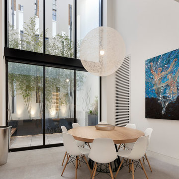 Narrow House double height kitchen/dining space