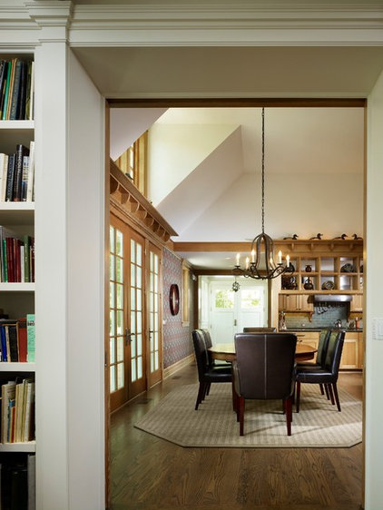 traditional dining room by Stuart Cohen & Julie Hacker Architects LLC