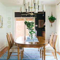 Eclectic Dining Room by Logan Killen Interiors