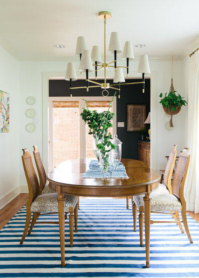rug under dining room table. eclectic dining room by logan killen interiors rug under table houzz