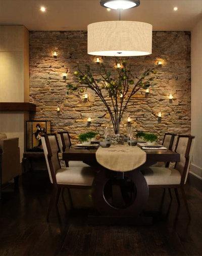 Transitional Dining Room by Solar Luminance
