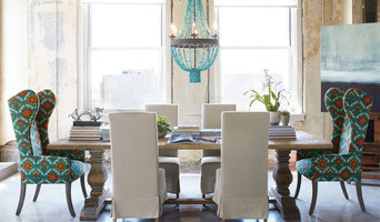 Natural Dining Table & Upholstered Dining Chairs