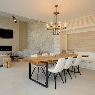 Idee per una sala da pranzo aperta verso il soggiorno design