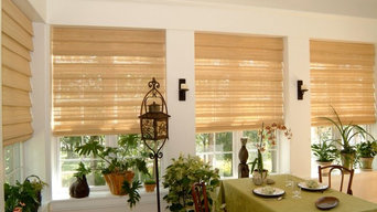 Natural Woven Hobbled Roman Shade