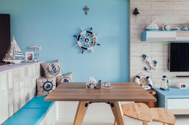 Coastal Dining Room by Urban Habitat Design