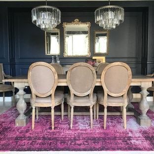 Idée de décoration pour une salle à manger tradition.