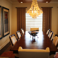 Contemporary Dining Room by Michelle Miller Design, Inc.
