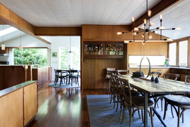 Midcentury Dining Room by Kat Alves Photography