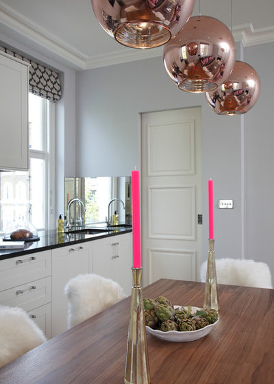 Transitional Dining Room by Jess Lavers Design