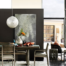Contemporary Dining Room by McGuire Furniture Company