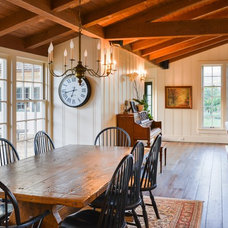 Farmhouse Dining Room by Landmark Construction