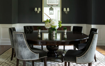 Bold Color Color Feast: When To Use Black In The Dining Room