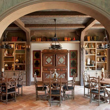 Mediterranean Dining Room by Gage Homes Inc.