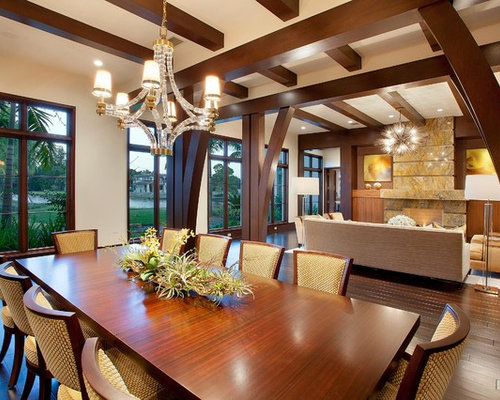 Dark wood beams houzz