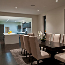 Contemporary Dining Room by Lawrence Woodcraft Architect