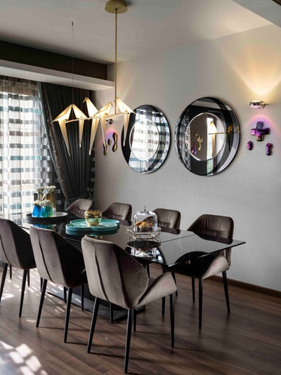 Eclectic Dining Room by SANJYT SYNGH